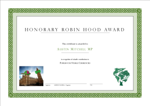 Our Appreciation for Austin Mitchell MP
